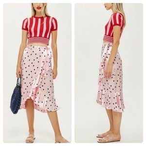 Top shop wrap skirt